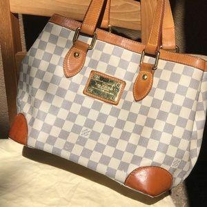 Louis Vuitton Damier Azur Hampstead Tote Handbag